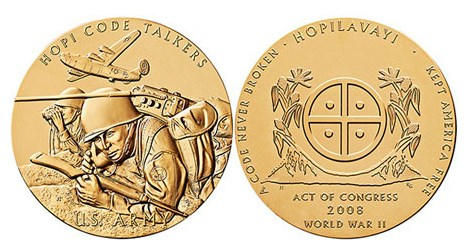 CONGRESSIONAL GOLD MEDALS FOR NATIVE AMERICAN CODE TALKERS
