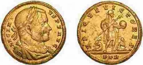 METAL DETECTORIST UNCOVERS RARE GOLD COIN OF EMPEROR LICINIUS I