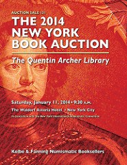 KOLBE & FANNING ANNOUNCE 2014 NEW YORK BOOK AUCTIONS