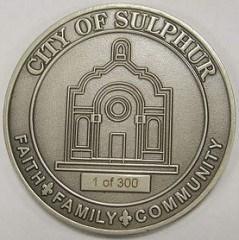 SULPHUR, LOUISIANA'S CENTENNIAL MEDAL