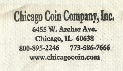 CHICAGO COIN COMPANY COIN BAG AND COOKIE TIN