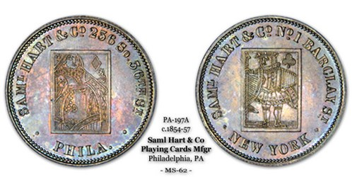 THOUGHTS ON THE SAMUEL HART PLAYING CARDS TOKENS