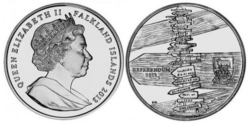 FALKLANDS ISLANDS MARCH REFERENDUM COIN