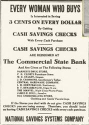 MORE ON CASH SAVINGS CHECKS