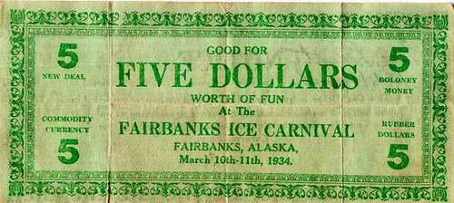 FAIRBANKS, ALASKA CARNIVAL MONEY