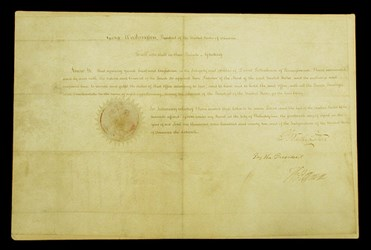 DAVID RITTENHOUSE PRESIDENTIAL APPOINTMENT DOCUMENT
