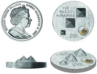 ULTRA HIGH RELIEF GREAT PYRAMIDS COIN
