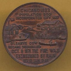 QUERY: DEAR OLD CHICAGO MEDAL INFORMATION SOUGHT