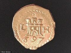 1715 TREASURE FLEET COINS FOUND OFF FLORIDA COAST