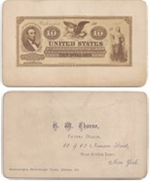 THE G.W. THORNE CARD NARAMORE-STYLE LEGAL TENDER CARD