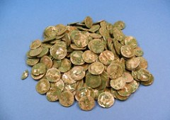 ROMAN COIN HOARD ON DISPLAY IN SCOTLAND