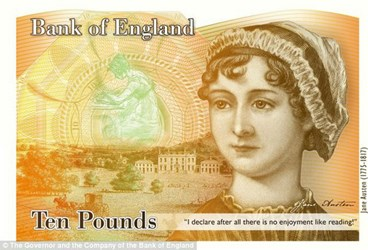 JANE AUSTEN TO APPEAR ON BANK OF ENGLAND £10 NOTE