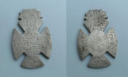 1887 DUNFERMLINE, SCOTLAND ATHLETIC MEDAL FOUND