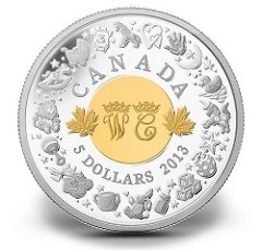 ROYAL CANADIAN MINT COMMEMORATES BIRTH OF PRINCE GEORGE