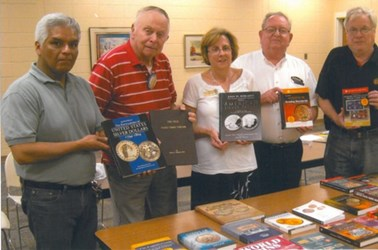INDIANA COIN CLUB DONATES NUMISMATIC BOOKS TO LOCAL LIBRARY