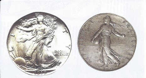 MORE COIN DESIGN SIMILARITIES: BARBER AND WEINMAN