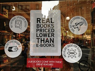REAL BOOKS PRICED LOWER THAN E-BOOKS