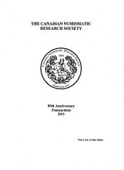 NEW BOOK: 2013 CANADIAN NUMISMATIC RESEARCH SOCIETY TRANSACTIONS