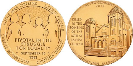 16TH STREET BAPTIST CHURCH BOMBING VICTIMS MEDAL