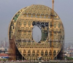 CONTROVERSY OVER CHINA'S COIN-SHAPED BUILDING