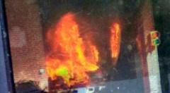 FIREHOUSE FIRE NEAR PHILADELPHIA MINT