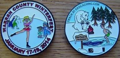 WARREN COUNTY PA'S WINTERFEST 2014 COIN