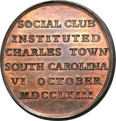 THE 1763 CHARLESTOWN SOCIAL CLUB MEDAL