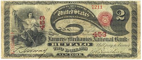 GREENBACK BACKER ELDRIDGE G. SPAULDING'S BANKNOTE