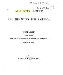 WILLIAM S. APPLETON'S REMARKS ON AUGUSTIN DUPRÉ