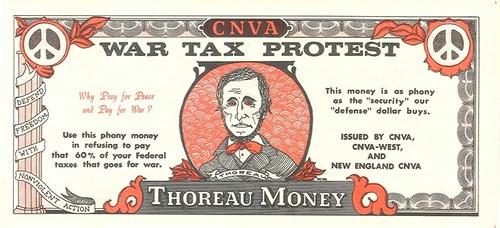 THE 1960S TAX-RESISTANCE THOREAU MONEY NOTES