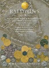 BALDWIN'S WINTER 2013-2014 PRICE LIST OFFERS NUMISMATIC LITERATURE