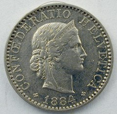 QUERY: IMAGE OF 1881 SWISS 20 CENTIME SOUGHT