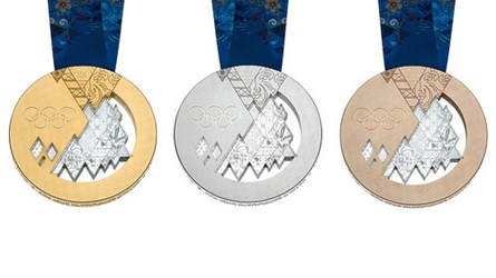 THE 2014 OLYMPIC MEDALS