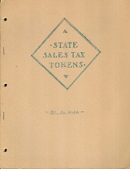 ALBERT WICK'S STATE SALES TAX TOKENS BOOKS