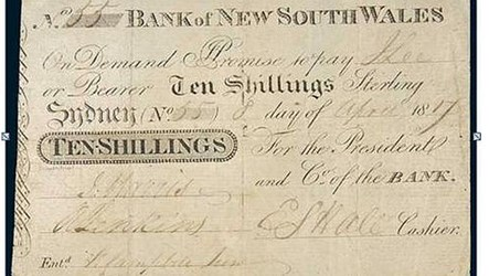 OLDEST AUSTRALIAN BANKNOTE TO BE SOLD