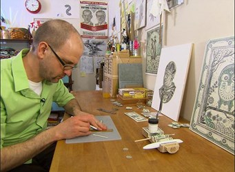 MONEY ARTIST MARK WAGNER'S DOLLAR BILL COLLAGES