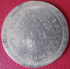 QUERY: ENGRAVED CONFEDERATE CAMP MARION COIN INFO SOUGHT