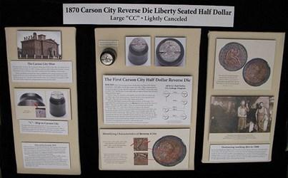 SUNDMAN'S 1870 CARSON CITY HALF DOLLAR DIE EXHIBIT