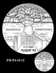 FLIGHT 93 FALLEN HEROES OF 9/11 MEDAL DESIGNS