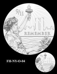 NEW YORK FALLEN HEROES OF 9/11 MEDAL DESIGNS