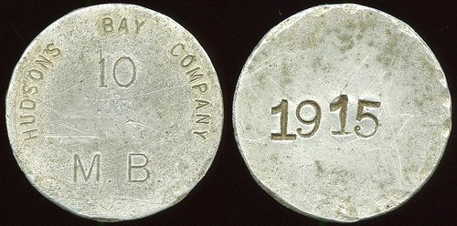 MORE ON THE '1915' HUDSON BAY COMPANY TOKEN