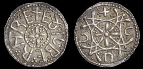 SILVER PENNY OF ÆTHELBERHT II FOUND BY METAL DETECTORIST