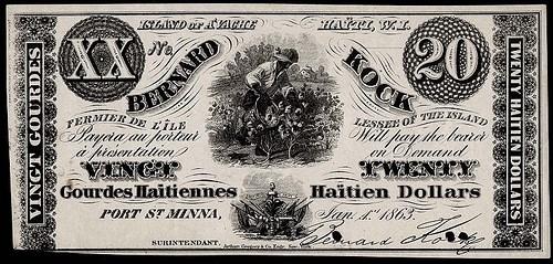 1863 HAITIAN COW ISLAND NOTE