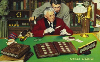 CHRISTIE'S SELLS ROCKWELL'S 'COLLECTOR' PAINTING