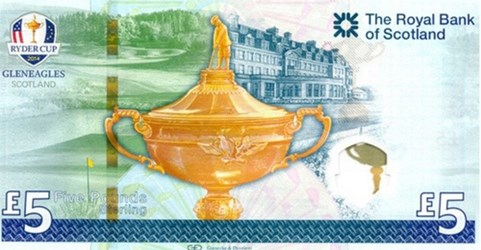 COMMEMORATIVE BANKNOTE FOR 2014 RYDER CUP