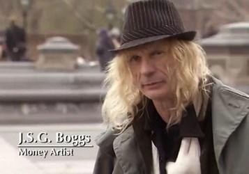 VIDEO OF MONEY ARTIST J.S.G. BOGGS