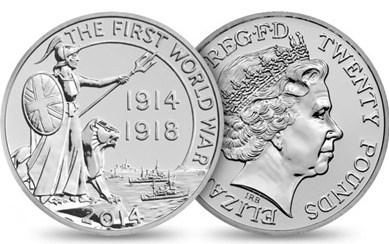 2014 ROYAL MINT WWI OUTBREAK COIN