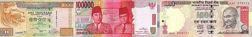 ASIA'SHIGHEST DENOMINATED BANKNOTES