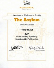THE ASYLUM WINS ANA OUTSTANDING CLUB PUBLICATIONAWARD