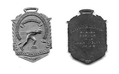 1924 MILWAUKEE SPEEDSKATING MEDAL RETURNED TOFAMILY